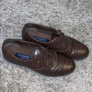Easy Spirit Anti Gravity Brown Leather Shoes SZ 8
